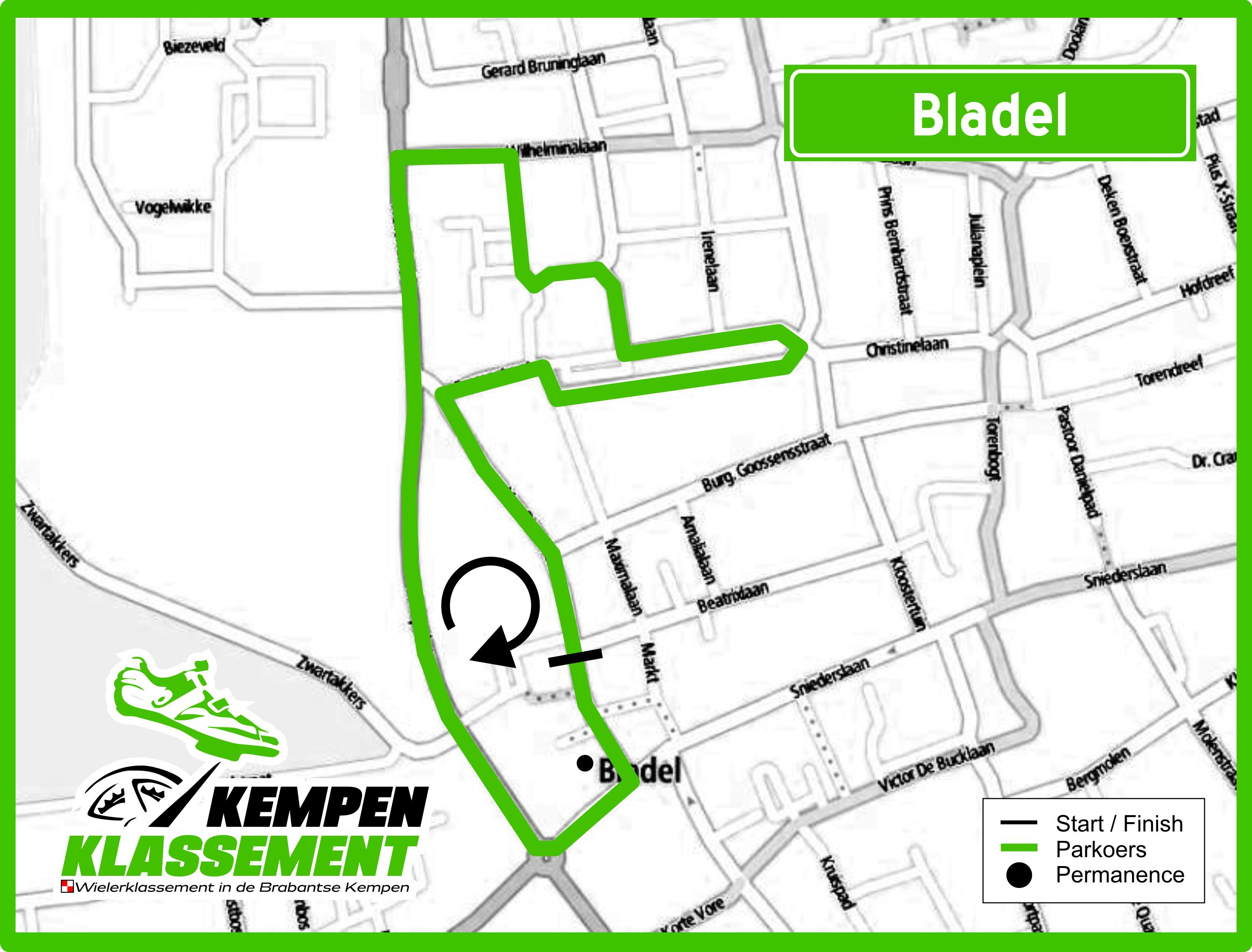 Kaart Bladel